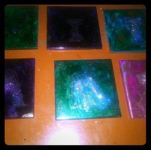 Ceramic custom coasters set of 4